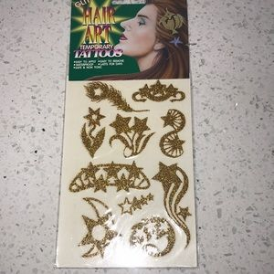 HAIR ART TEMPORARY TATTOOS 🌝🌞🌻⭐️🌟⚡️